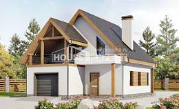 120-005-R Two Story House Plans with mansard and garage, a simple Plans To Build, House Expert