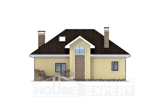 150-008-L Two Story House Plans with mansard, inexpensive Plans To Build,