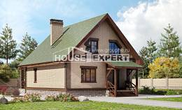 160-011-R Two Story House Plans with mansard roof, economical Custom Home,