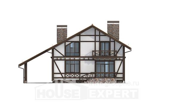 155-002-R Two Story House Plans and mansard with garage, available House Online,