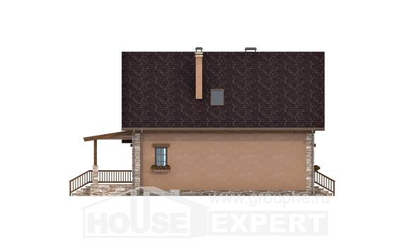 140-002-R Two Story House Plans with mansard, beautiful House Building, House Expert
