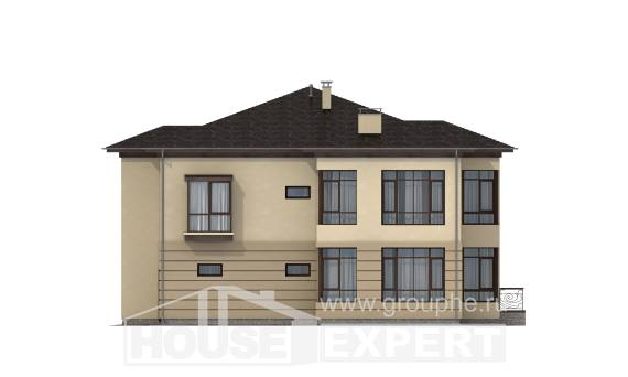 300-006-R Two Story House Plans with garage under, best house Floor Plan,