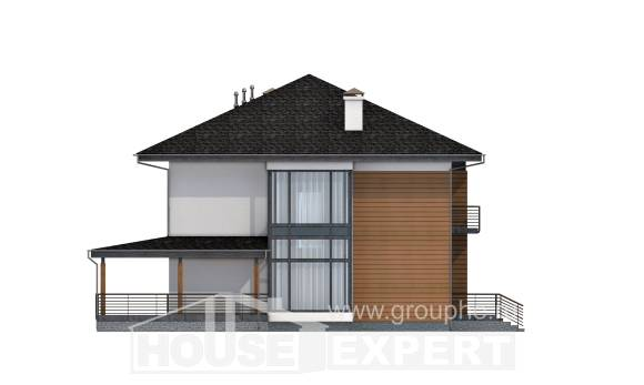 245-001-R Two Story House Plans, beautiful Custom Home,