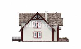300-008-L Two Story House Plans and mansard with garage in front, cozy Plans Free,