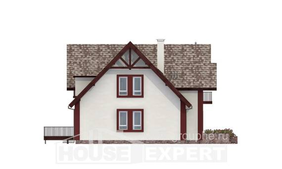 300-008-L Two Story House Plans and mansard with garage under, big Cottages Plans