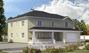 410-002-L Two Story House Plans with garage, best house Custom Home Plans Online