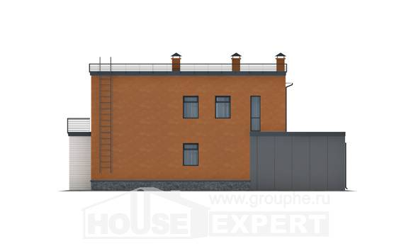 260-002-L Two Story House Plans with garage, big Design Blueprints