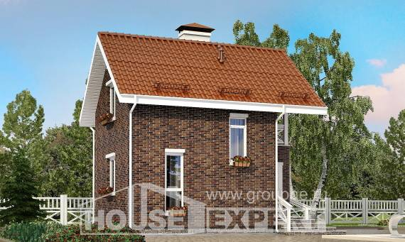045-001-L Two Story House Plans with mansard, the budget Architect Plans,