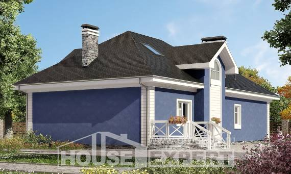 180-010-L Two Story House Plans with mansard and garage, a simple Drawing House,