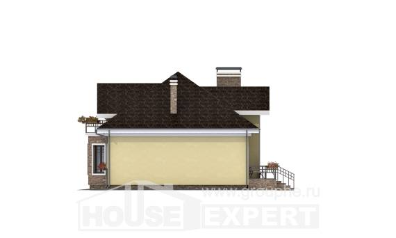 150-008-L Two Story House Plans with mansard roof, a simple Planning And Design,
