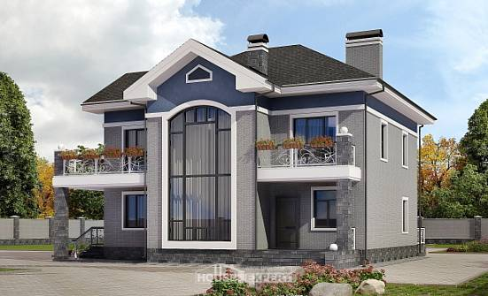 200-006-L Two Story House Plans, average Design House,