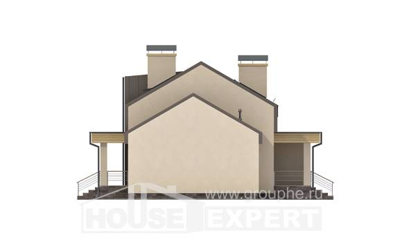 150-015-L Two Story House Plans and mansard and garage, small Design Blueprints,