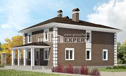 185-002-R Two Story House Plans, luxury Drawing House,