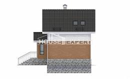 100-005-L Two Story House Plans with mansard roof, the budget Cottages Plans