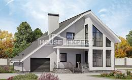 200-007-L Two Story House Plans with mansard with garage in back, luxury Online Floor