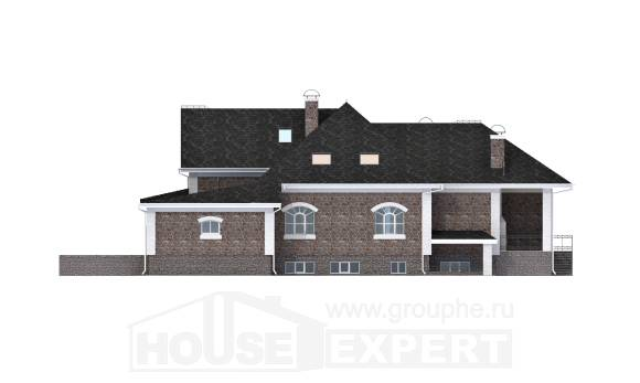 490-001-R Three Story House Plans with mansard with garage in back, best house House Plan,