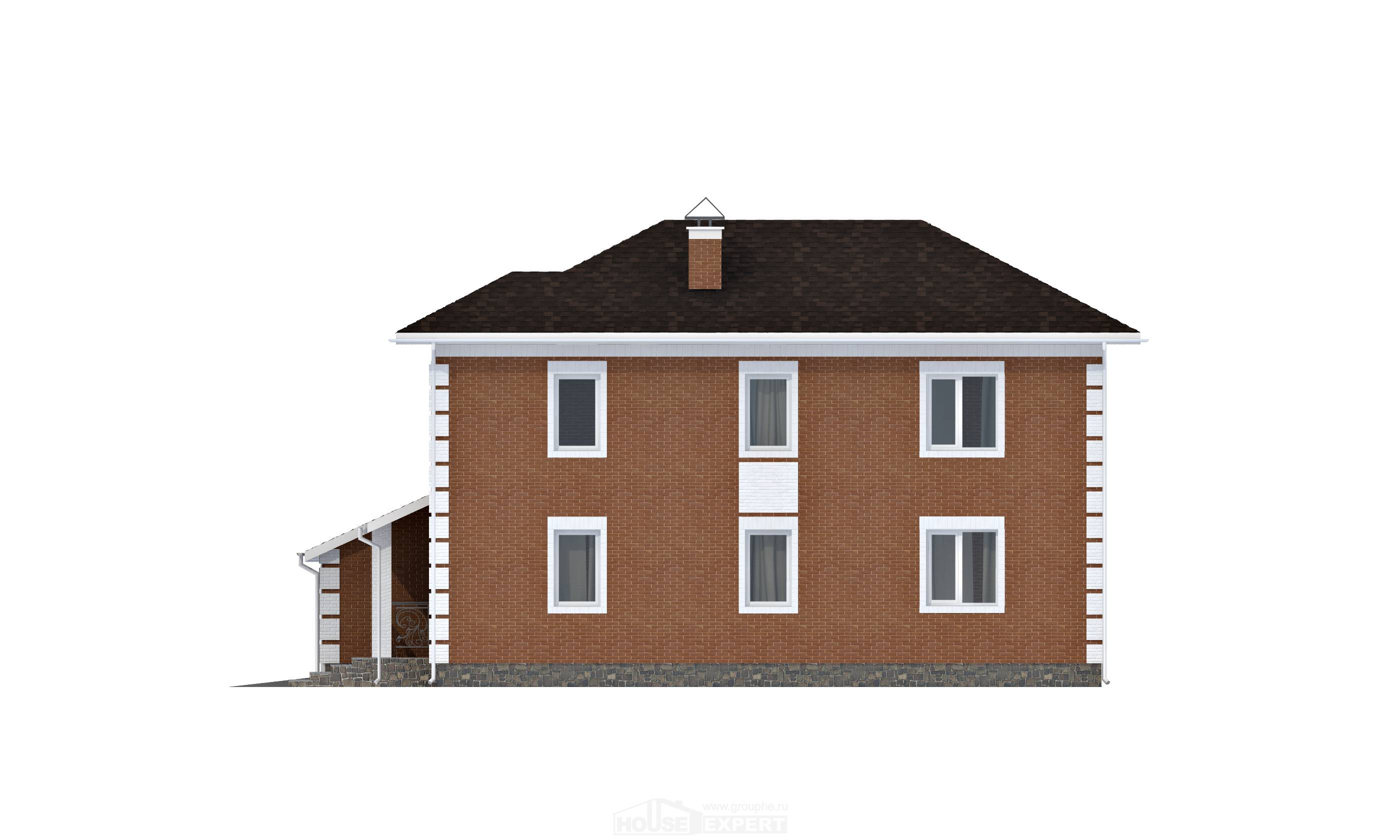 220-004-L Two Story House Plans and garage, spacious Construction Plans,