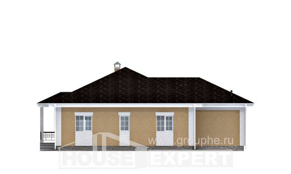 130-002-L One Story House Plans with garage in back, beautiful Architectural Plans,