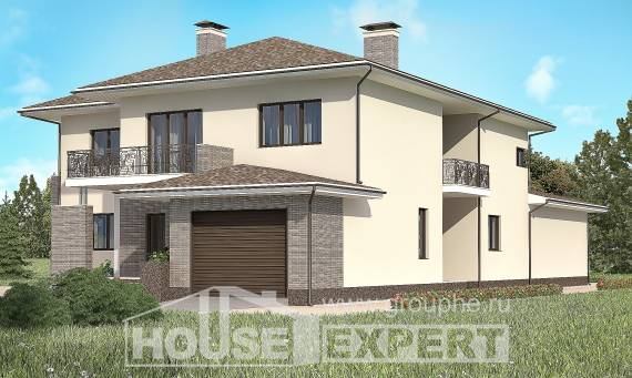 500-001-R Three Story House Plans with garage, luxury House Building,