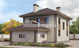 185-004-R Two Story House Plans with garage in back, spacious Design House,