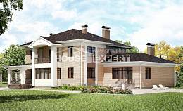 520-001-R Three Story House Plans, spacious Architect Plans,