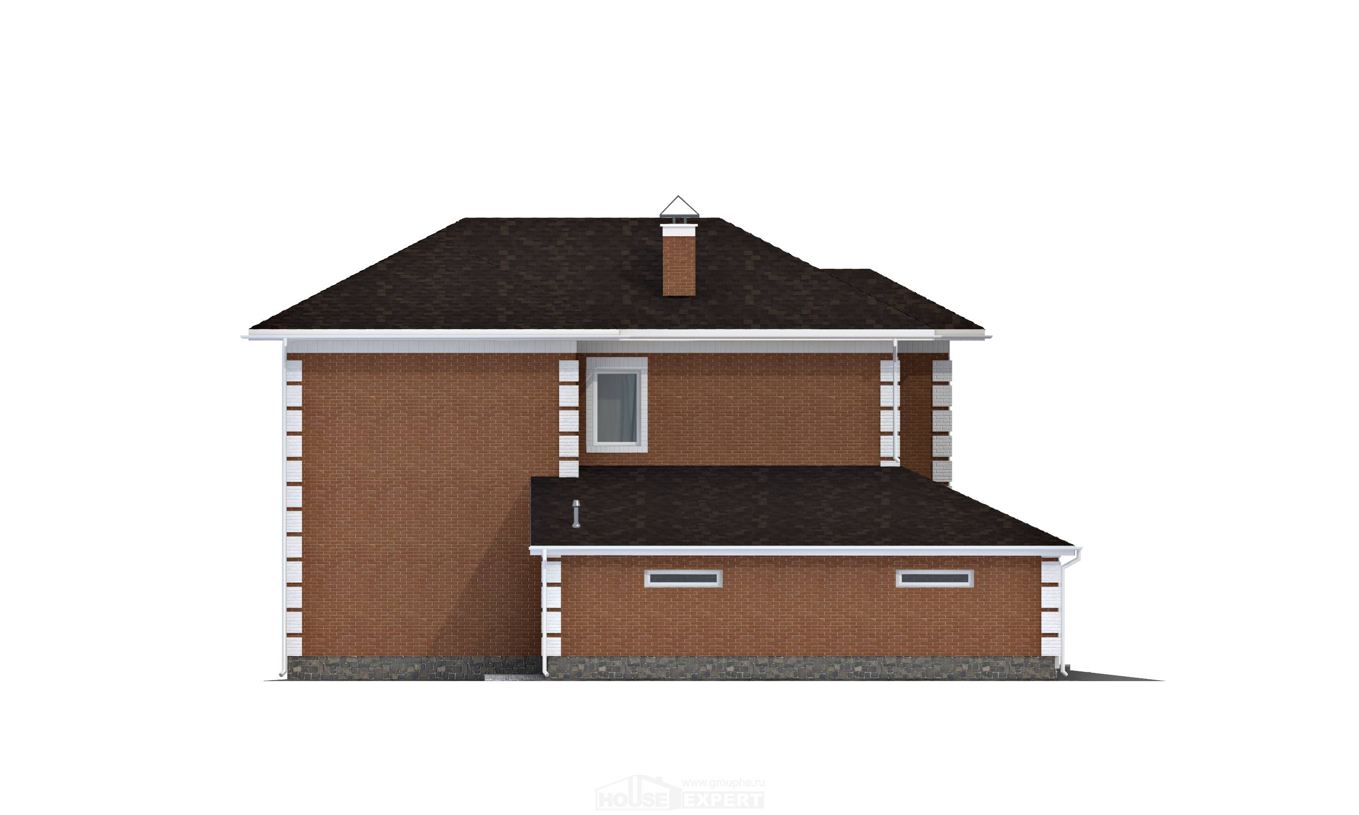 220-004-L Two Story House Plans with garage in front, beautiful Home Blueprints,