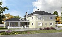 410-002-L Two Story House Plans and garage, big Cottages Plans,