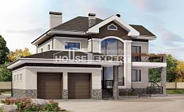 365-001-L Two Story House Plans with garage under, spacious Dream Plan