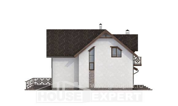 180-013-R Two Story House Plans with mansard with garage, a simple Custom Home,