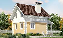 070-002-R Two Story House Plans with mansard, the budget Dream Plan,