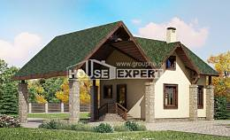 060-001-L Two Story House Plans with mansard and garage, little Home Plans, House Expert