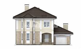 220-007-R Two Story House Plans with garage in back, a simple Models Plans