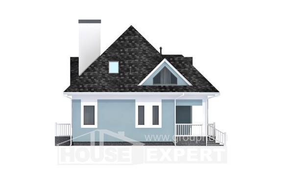 110-001-L Two Story House Plans with mansard roof, inexpensive Tiny House Plans,