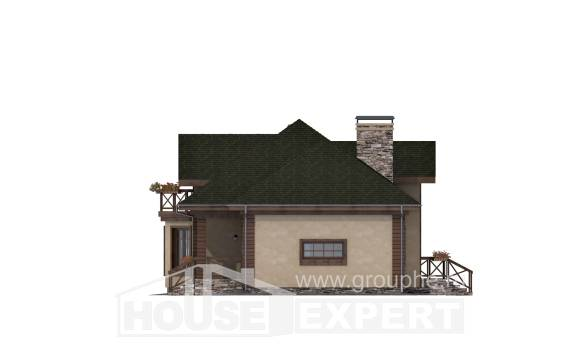 180-010-R Two Story House Plans with mansard roof with garage, beautiful Drawing House,