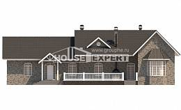 195-001-R One Story House Plans, classic Floor Plan,