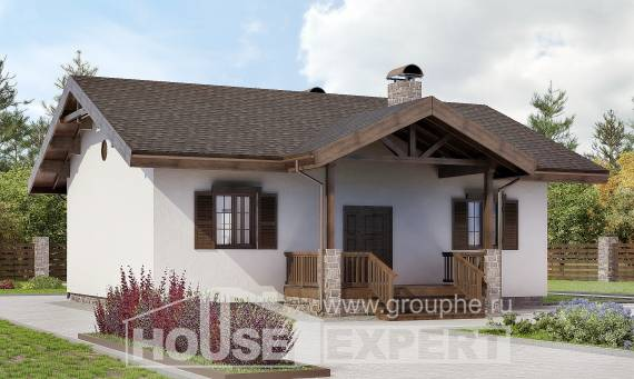 090-002-R One Story House Plans, economical Woodhouses Plans,