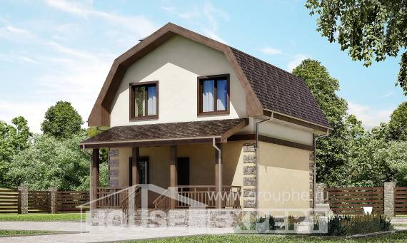 070-004-R Two Story House Plans and mansard, a simple Cottages Plans,