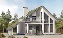 170-009-L Two Story House Plans and mansard with garage, available Plans Free, House Expert