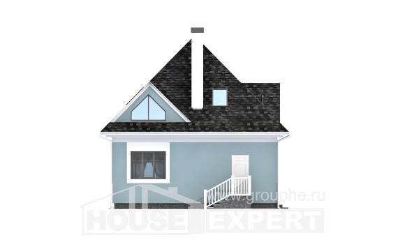 110-001-L Two Story House Plans with mansard, modern Architects House,