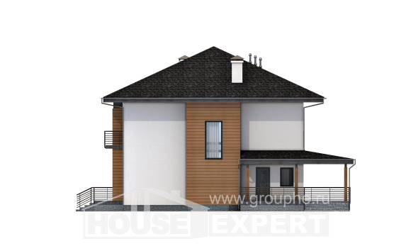 245-001-R Two Story House Plans, luxury Plans Free,