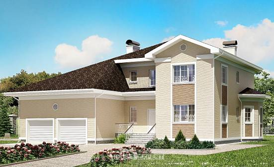 335-001-L Two Story House Plans and garage, big Plan Online,