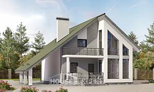 170-009-L Two Story House Plans and mansard with garage, the budget Drawing House,