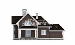 190-003-L Two Story House Plans with mansard with garage in front, luxury Villa Plan,