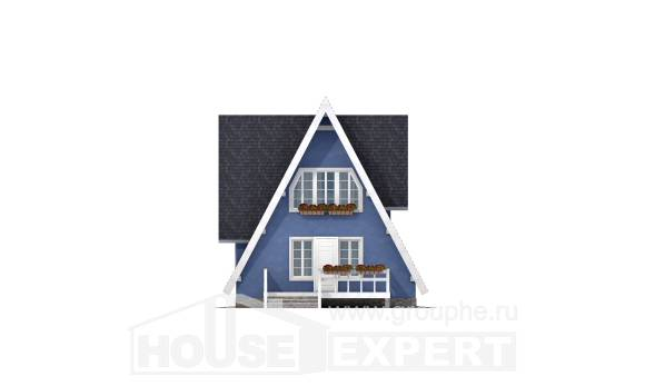 100-002-R Two Story House Plans with mansard roof, modest Construction Plans,