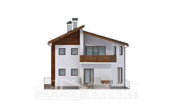 180-009-R Two Story House Plans and mansard, the budget House Plans,