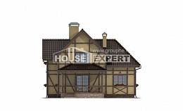 160-003-R Two Story House Plans with mansard roof, inexpensive Floor Plan,