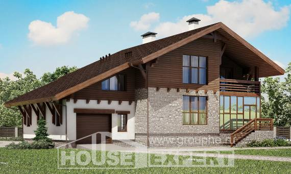 420-001-R Three Story House Plans with mansard and garage, beautiful Architects House, House Expert