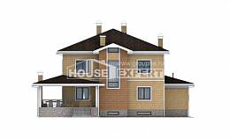 350-002-L Three Story House Plans and garage, beautiful Models Plans, House Expert