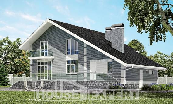 190-006-L Two Story House Plans with mansard with garage under, best house Cottages Plans,