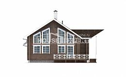 210-002-L Two Story House Plans with mansard roof, beautiful Cottages Plans,